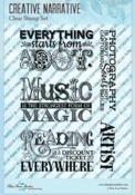 Creative Narrative Clear Stamps - Blue Fern Studios