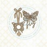Butterfly Charms Chipboard - Blue Fern Studios