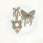 Butterfly Charms Chipboard - Blue Fern Studios - PRE ORDER