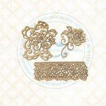 Floral Lace Chipboard - Blue Fern Studios