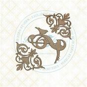 Flourished Swirls Chipboard - The Bird Waltz - PRE ORDER