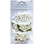 Ivory Paper Flowers - Royal Posies - 49 And Market