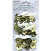 Olive Paper Flowers - Royal Posies - 49 And Market