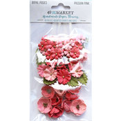 Passion Pink Paper Flowers - Royal Posies - 49 And Market