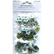 Ocean Jade Paper Flowers - Royal Posies - 49 And Market