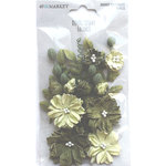 Olive Paper Flowers - Royal Spray - 49 And Market