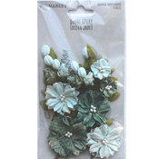 Ocean Jade Paper Flowers - Royal Spray - 49 And Market