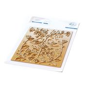 Folk Art Birds Hot Foil Plate - Pinkfresh Studio