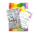 Teacher Stamp & Die Set - Waffle Flower Crafts