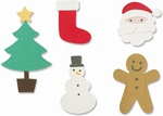 Basic Christmas Shapes Thinlits Dies - Sizzix