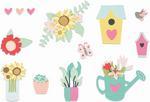 Floral Garden Thinlits Dies - Sizzix