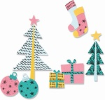 Groovy Christmas Thinlits Dies - Sizzix