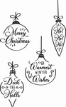Christmas Baubles Clear Stamps - Sizzix