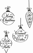 Christmas Baubles Clear Stamps - Sizzix - PRE ORDER