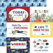 6x4 Journaling Cards Paper - Under Sea Adventures - Echo Park