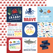 4x4 Journaling Cards Paper - Under Sea Adventures - Echo Park