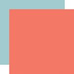 Dk. Pink / Lt. Blue Coordinating Solid Paper - Carta Bella