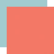 Dk. Pink / Lt. Blue Coordinating Solid Paper - Carta Bella - PRE ORDER