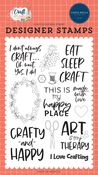 Crafty & Happy Stamp Set - Carta Bella - PRE ORDER