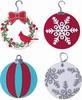 Wreath & Snowflake Thinlits Dies - Sizzix