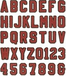 Alphanumeric Varsity Thinlits Dies by Tim Holtz - Sizzix
