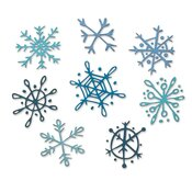Scribbly Snowflakes Thinlits Dies by Tim Holtz - Sizzix