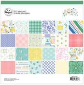 Happy Blooms 12x12 Paper Pack - Pinkfresh Studio