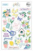 Happy Blooms Puffy Stickers - Pinkfresh Studio