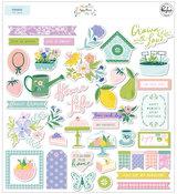 Happy Blooms Ephemera Pack - Pinkfresh Studio