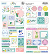 Happy Blooms Cardstock Stickers - Pinkfresh Studio - PRE ORDER