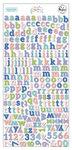 Happy Blooms Mini Alphabet Stickers - Pinkfresh Studio - PRE ORDER