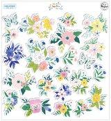 Happy Blooms Floral Ephemera - Pinkfresh Studio - PRE ORDER