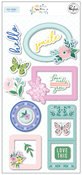 Happy Blooms Puffy Frames - Pinkfresh Studio - PRE ORDER