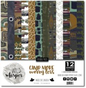Camp More, Worry Less DOUBLE 12x12 Paper Pack - Wild Whisper Designs