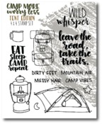 Tents Stamp Set - Camp More, Worry Less - Wild Whisper Designs - PRE ORDER