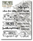 Trailers Stamp Set - Camp More, Worry Less - Wild Whisper Designs - PRE ORDER