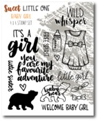Baby Girl Stamp Set - Sweet Little One - Wild Whisper Designs - PRE ORDER