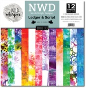 Ledger & Script DOUBLE 12x12 Paper Pack - Wild Whisper Designs - PRE ORDER