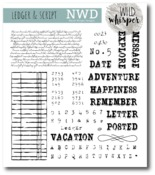 Ledger & Script Stamp Set - Wild Whisper Designs - PRE ORDER