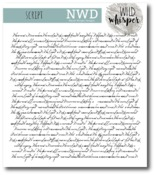 Script Background Stamp Set - Wild Whisper Designs - PRE ORDER