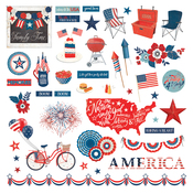 America the Beautiful Element Sticker - Photoplay - PRE ORDER