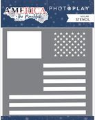Stencil Flag - America The Beautiful - Photoplay - PRE ORDER
