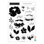 Painted Peony Clear Stamps - Concord & 9th - PRE ORDER