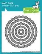 Just Stitching Scalloped Circles Dies - Lawn Fawn
