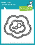 Outside In Stitched Thought Bubble Stackables Dies - Lawn Fawn