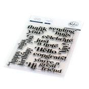 Perfect Sentiments Stamp Set - Pinkfresh Studio - PRE ORDER