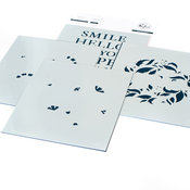 Reason To Smile Wreath Layering Stencil Set - Pinkfresh Studio - PRE ORDER