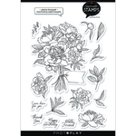 Peony Bouquet Stamp Set - Say It With Stamps - Photoplay