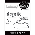 Thank You Word Dies - Say It With Stamps - Photoplay