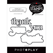 Thank You Word Dies - Say It With Stamps - Photoplay - PRE ORDER